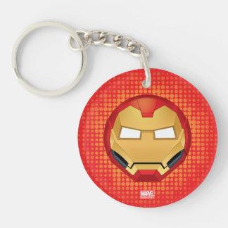 """""""I Am Iron Man"""" Emoji Double-Sided Round Acrylic Keychain"""