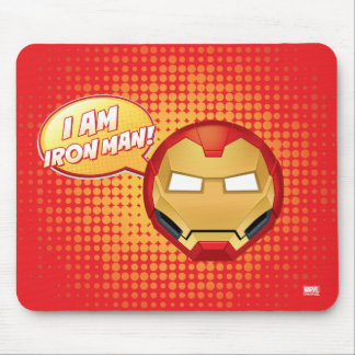 """I Am Iron Man"" Emoji Mouse Pad"