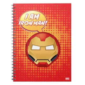 """I Am Iron Man"" Emoji Notebook"
