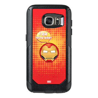 """I Am Iron Man"" Emoji OtterBox Samsung Galaxy S7 Case"