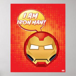 """I Am Iron Man"" Emoji Poster"