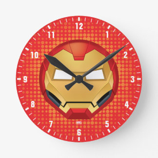 """I Am Iron Man"" Emoji Round Clock"