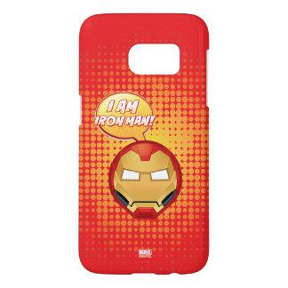"""""""I Am Iron Man"""" Emoji Samsung Galaxy S7 Case"""