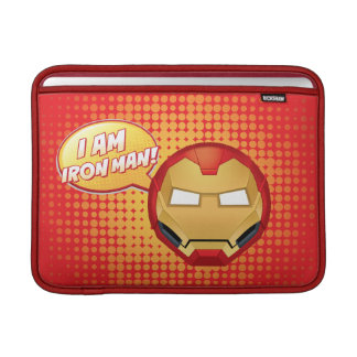 """I Am Iron Man"" Emoji Sleeve For MacBook Air"
