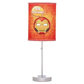 """I Am Iron Man"" Emoji Table Lamp"