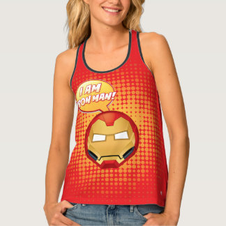 """I Am Iron Man"" Emoji Tank Top"