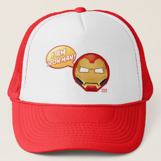 """I Am Iron Man"" Emoji Trucker Hat"