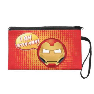"""I Am Iron Man"" Emoji Wristlet"