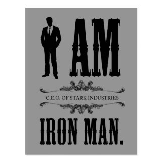 I Am Iron Man Postcard