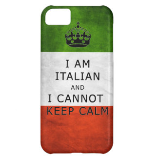 i am italian and i cannot keep calm phone case cover for iPhone 5C