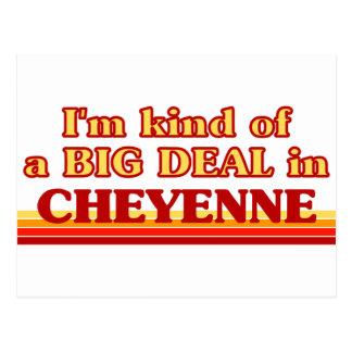 I am kind of a BIG DEAL in Cheyenne Postcard