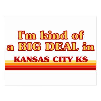 I am kind of a BIG DEAL in Kansas City Postcard