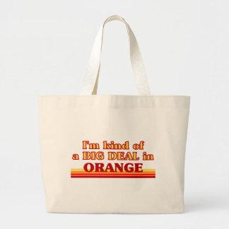 I am kind of a BIG DEAL in Orange Canvas Bag
