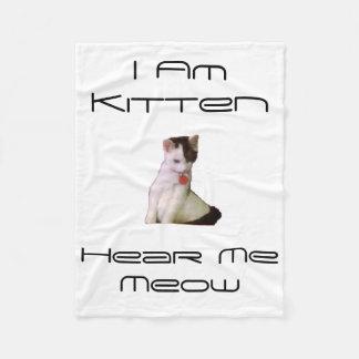 """I Am Kitten"" Small Fleece Blanket"