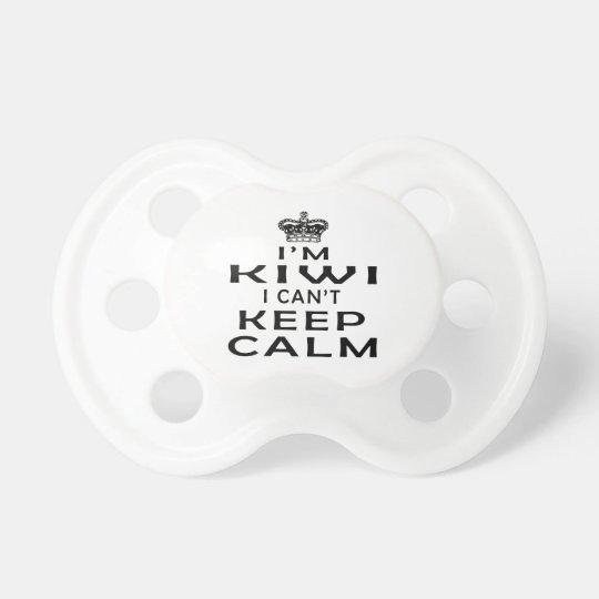 I am Kiwi I can't keep calm Baby Pacifiers