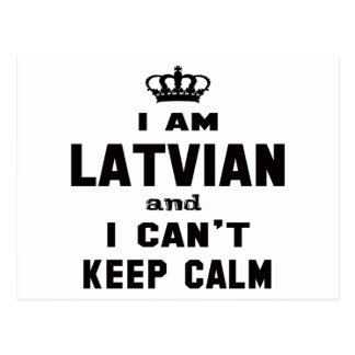 I am Latvian and i can't keep calm Postcard
