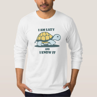 I Am Lazy And I Know It Printed Men's T-Shirt