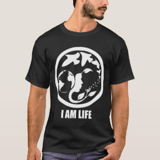 I AM LIFE. whitetext T-Shirt