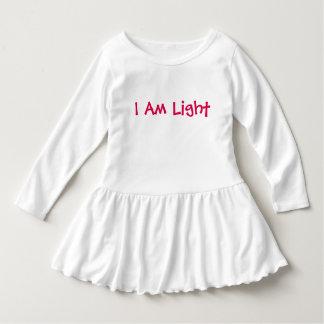 I Am Light Toddler Ruffle Dress