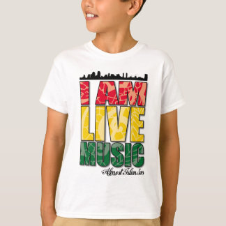 I AM LIVE MUSIC - Kids T-Shirt (WHT)
