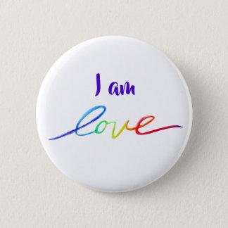 I am love Inspirational Rainbow Word Button Pins