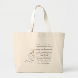 """I am Making Everything New"" Large Tote Bag"