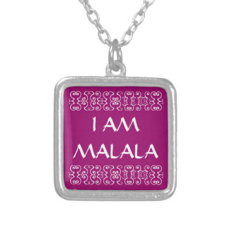I AM MALALA 2 SILVER PLATED NECKLACE
