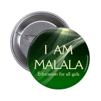 I am Malala Education for All Girls 2 Inch Round Button