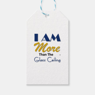 i am more than the glass ceiling tee pack of gift tags