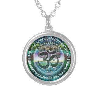 I Am - Motivational Namaste Symbol Silver Plated Necklace