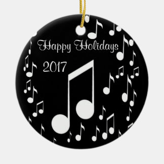 I Am Music,Happy Holidays 2017_ Ceramic Ornament