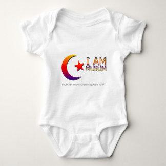 I AM MUSLIM ANTI TRUMP FACISM BABY BODYSUIT