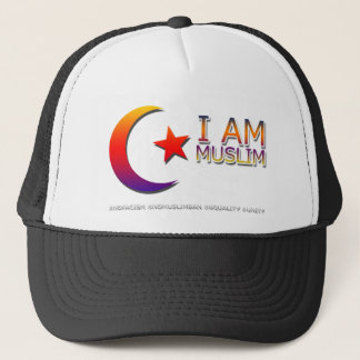 I AM MUSLIM ANTI TRUMP FACISM TRUCKER HAT