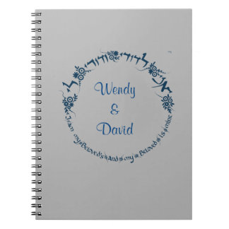 I am my beloved and my beloved is mine spiral notebook