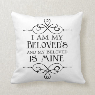 I Am My Beloved's and My Beloved is Mine Throw Pillow