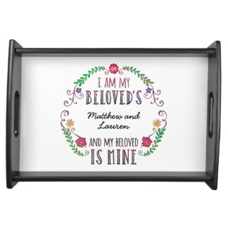 I Am My Beloved's, Personalized with Names Serving Tray