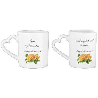I Am My Beloveds Wedding Scripture Coffee Mug Set