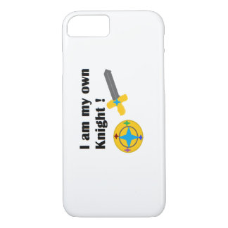 I am my own Knight phone case
