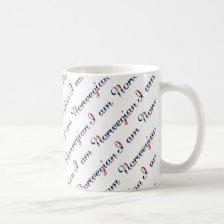 I am Norwegian Country Pride Typography Pattern Coffee Mug