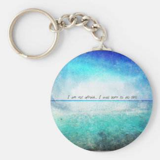 I am not afraid. I was born to do this JOAN OF ARC Basic Round Button Keychain