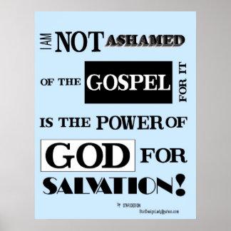 I am not ashamed of the gospel, poster