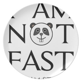 I AM NOT FAST(3) PLATE