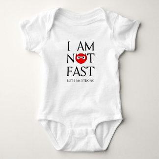 I AM NOT FAST BABY BODYSUIT