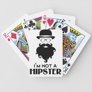 I am not Hipster Bicycle Playing Cards
