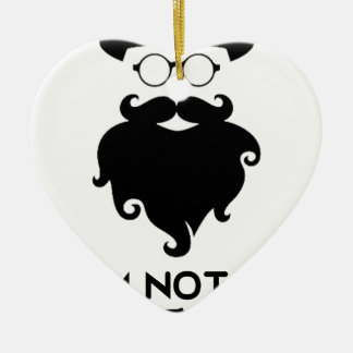 I am not Hipster Ceramic Heart Ornament