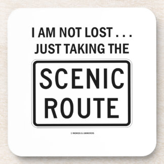 I Am Not Lost Just Taking The Scenic Route (Sign) Coaster