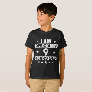 I Am Officially 9 Years Old 9th Birthday T-Shirt