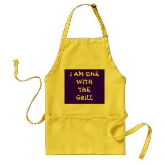 I AM ONE WITH THE GRILL STANDARD APRON
