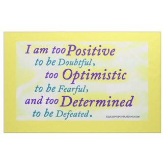 I Am Positive Bulletin Board Design Fabric
