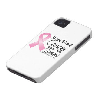I am Proof Breast Cancer Can Be Beaten iPhone 4 Case